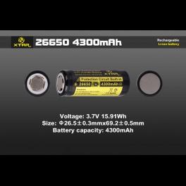 Batería XTAR 26650 4300mAh